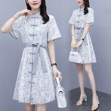 womens plus size L-5XL lace shirt summer