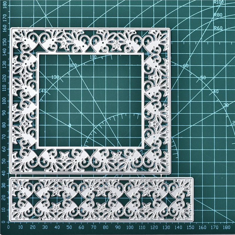Frame Background Metal Cutting Dies Scrapbooking Decor Making Embossing Die Cut