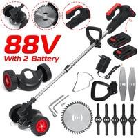 88VF 1800W eléctrica cortadora de césped con 2PC Li-Ion cortacésped de la batería potente de Weeder sin máquina de corte de herramienta de jardín