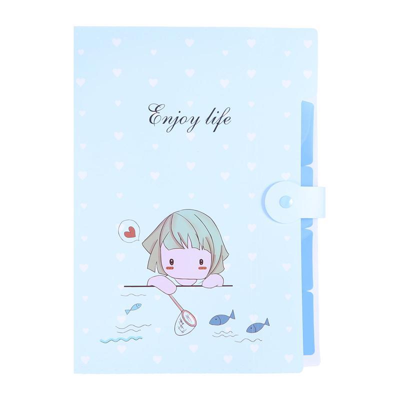 A4 Cute Expanding File Folder Cartoon Document Holder Organ Package Storage Folder For Students School Office Supplies
