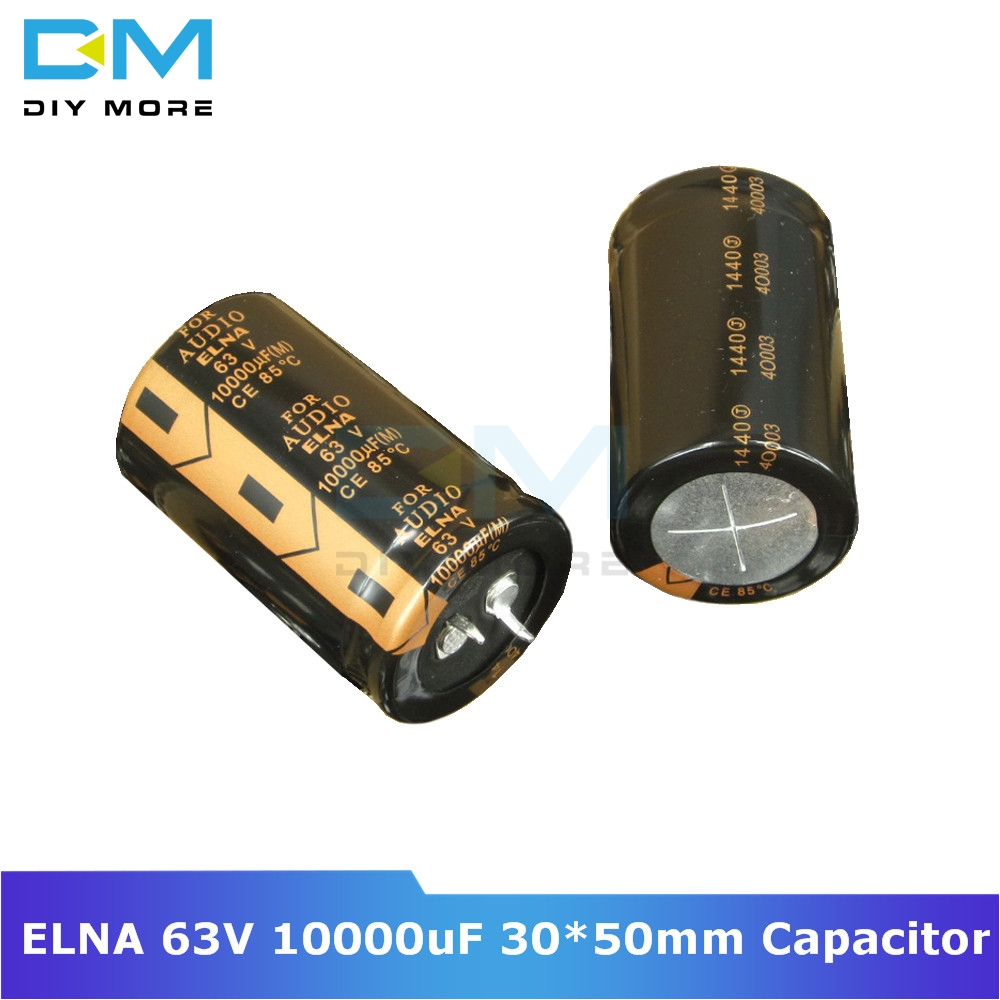 Original ELNA Audio Capacitor 63V 10000uF 30*50mm Aluminum Electrolytic Capacitor Low Impedance Capacitance Size 30x50mm