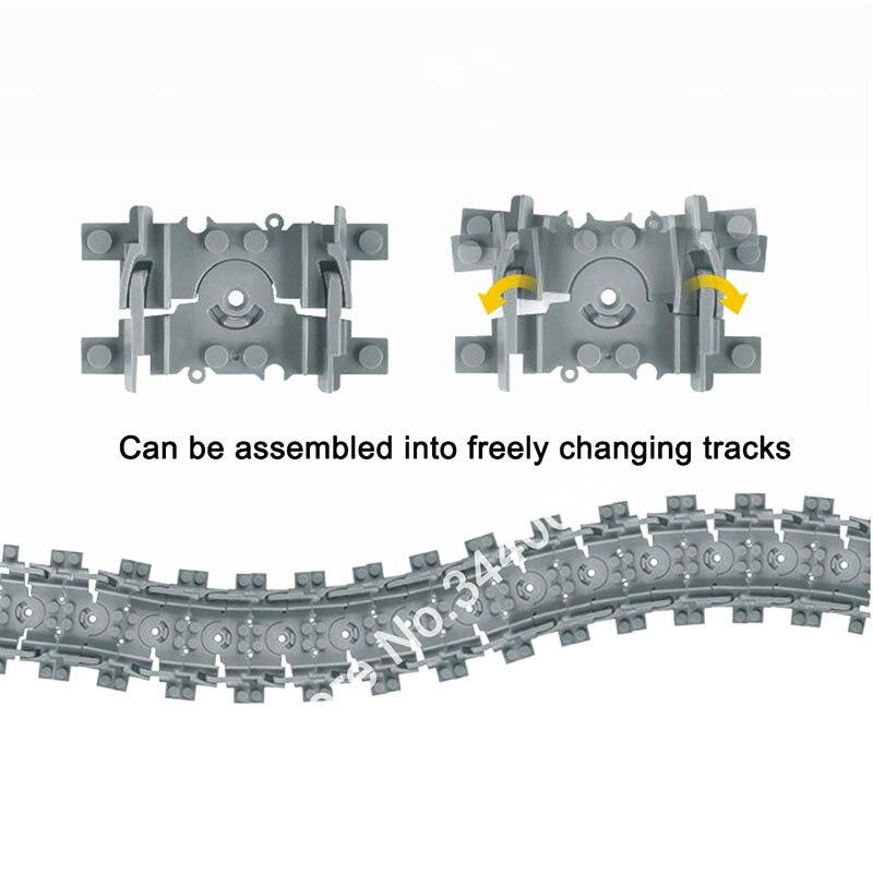 Tren Flexible pistas de la ciudad de trein carril recto rieles curvos bloques de construcción de ladrillos modelo Compatible con todas las marcas de tren