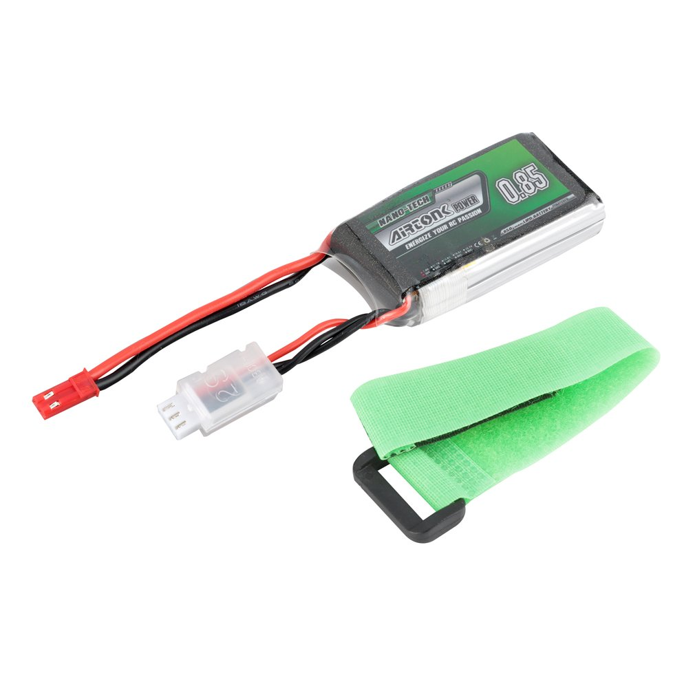 Airtonk Power 7.4V <font><b>850mAh</b></font> 30C <font><b>2S</b></font> 1P <font><b>Lipo</b></font> Battery JST Plug Rechargeable for RC Racing Drone Quadcopter Helicopter Car Boat image