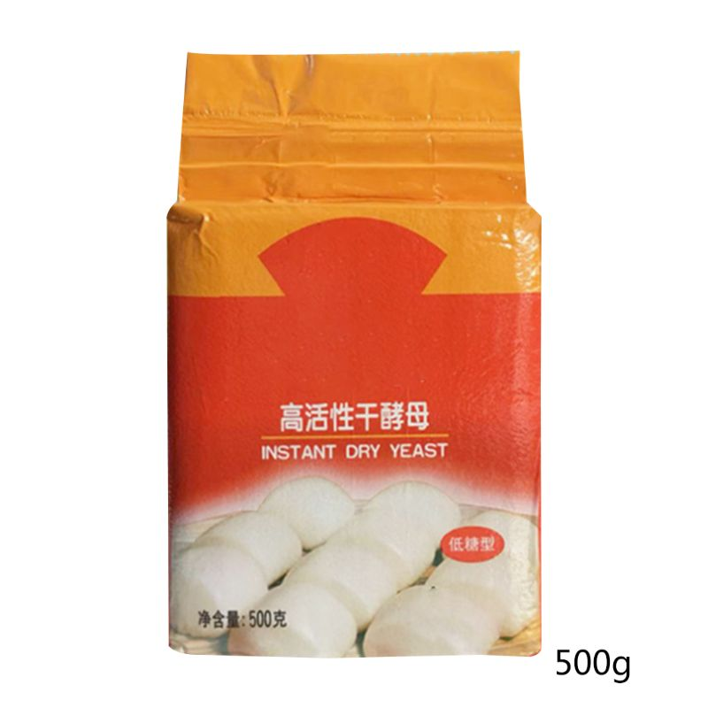 1 Bag  500g Low Glucose Tolerance Instant Dry Yeast Highly Active Powder Bread Making