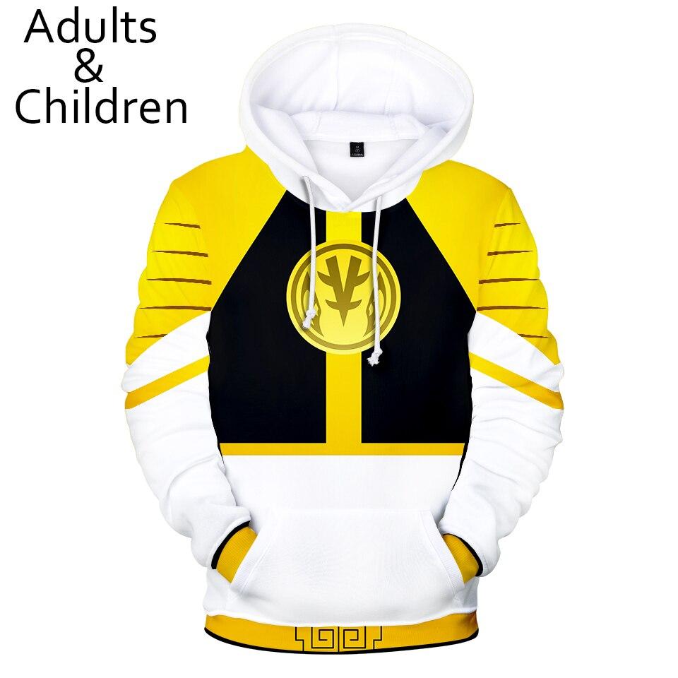 New Stitching 3D Power Rangers Hoodie Men And Women Sweatshirt 3D Kids Hoodie Spring Children Hooded Sweatshirt