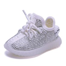 DIMI 2019 Spring/Autumn Baby Girl Boy Toddler Shoes Infant Rhinestone Sneakers Coconut Shoes Soft Comfortable Kid Shoes(China)