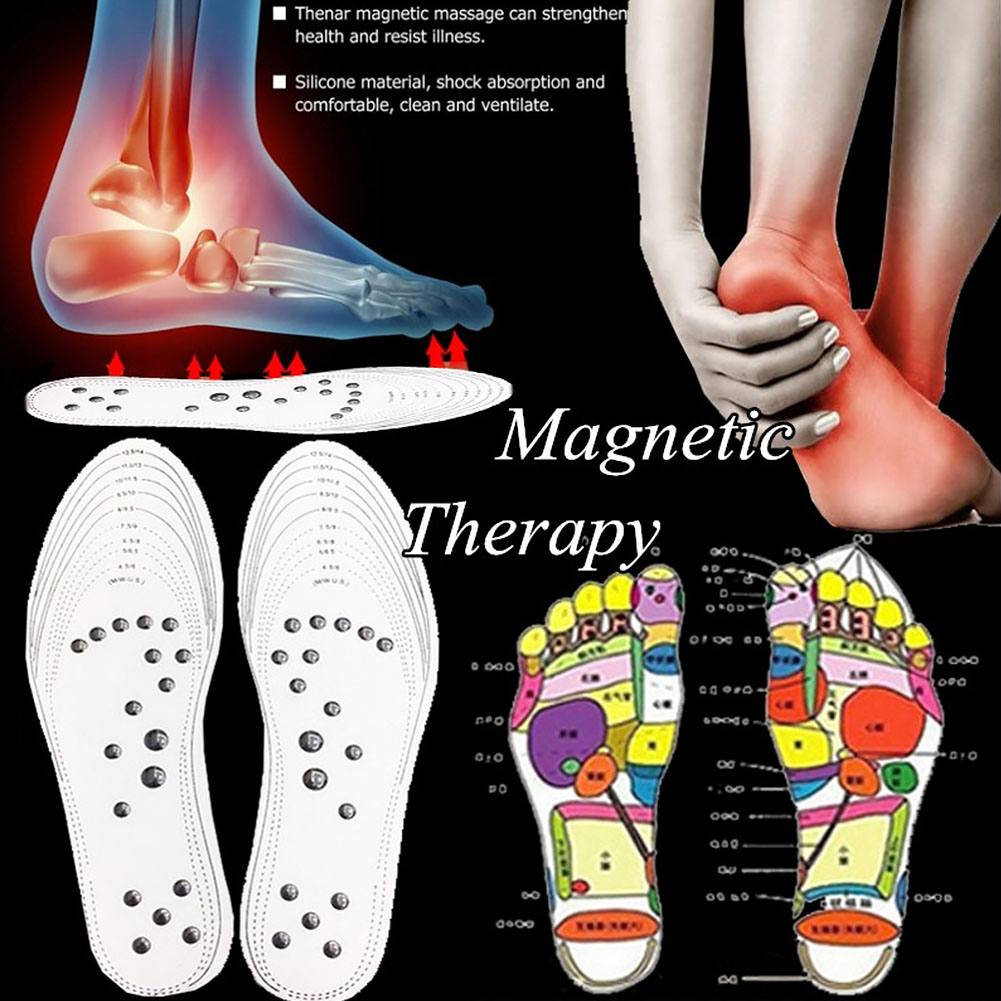 1Pair Foot Massager Massage Insole Magnetic Therapy Breathable Massager Shoe Inserts Memory Cotton Acupoint Health Care Mat Pad