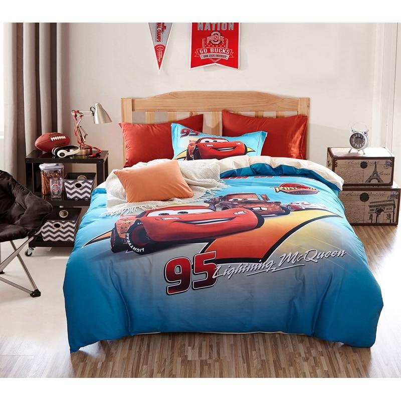 Disney Lightning Mc Queen Car 95 Baby Bedding Set Cotton Twin Queen Kids Girls Children Bedroom Decor Gift Duvet Cover
