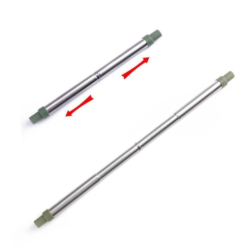 Портативная телескопическая соломинка из нержавеющей стали многоразовая складная телескопическая соломинка металлическая соломинка с коробкой для хранения кистей