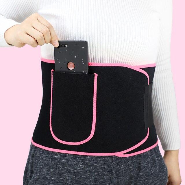 Waist Trainer Sweat Belt Body Shaper for Women and Men with Phone Pocket Bodybuilding Waist Trimmer Belt Weight Loss Sweat Wrap 5