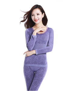 Thermal-Underwear Long-Johns Seamless Print Warm Sexy Winter Women Ladies Lace Intimates