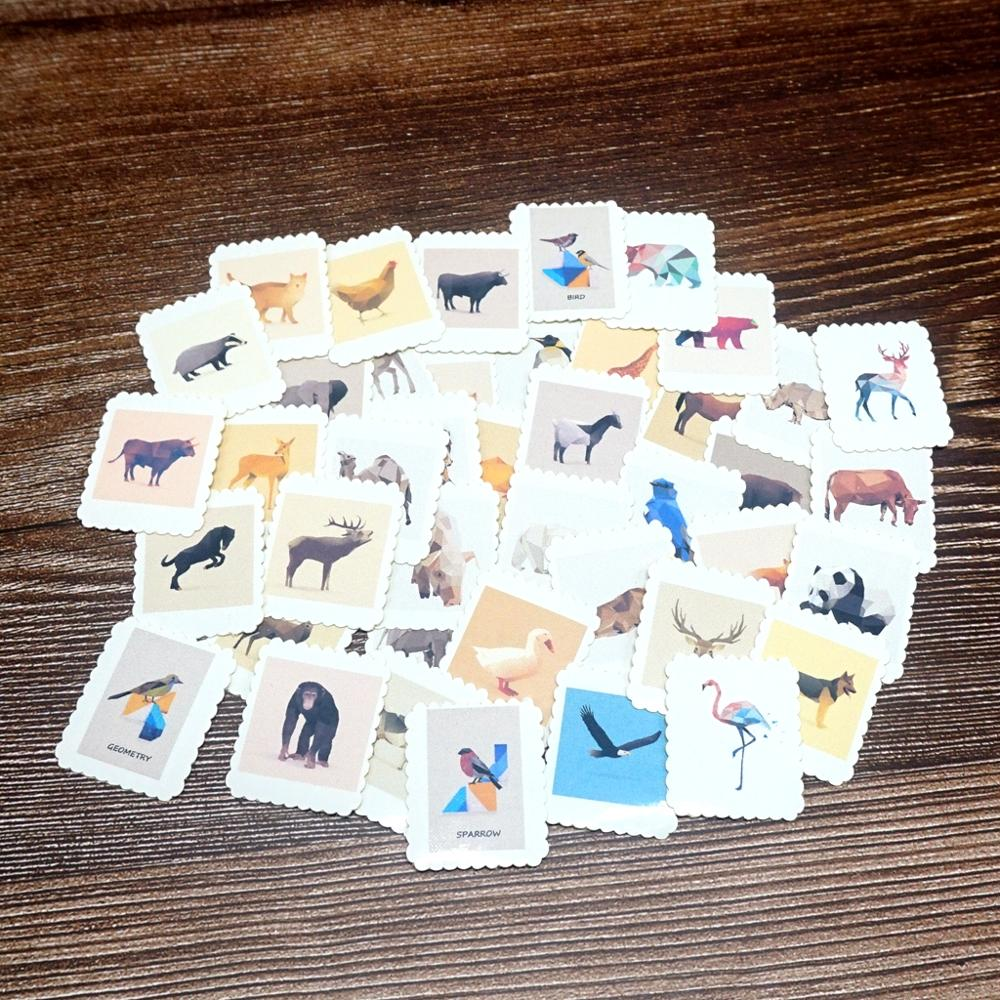 42PCS Mixed Galaxy Animals Stickers DIY Diary Album Stationery Label Stickers Gift Paper Stickers For Kids Students Girs Boys