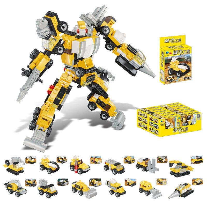 NEW M.Y 372PC ROBOT BUILDING CONSTRUCTION BRICK SET KIDS CREATIVE TOY SET