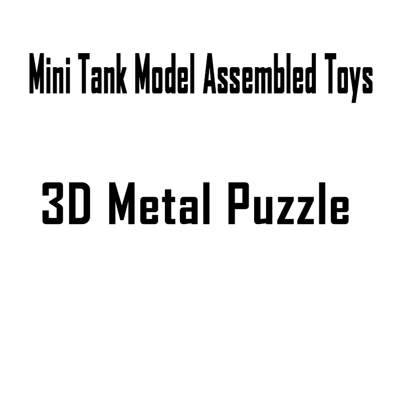 3D DIY Stereoscopic Metal Mini <font><b>Tank</b></font> <font><b>Model</b></font> Assemble Toys M1 <font><b>Tank</b></font>/Tiger <font><b>Tank</b></font>/<font><b>T34</b></font> <font><b>Tank</b></font> Military <font><b>Model</b></font> Jigsaw Puzzle Toys for Fans image