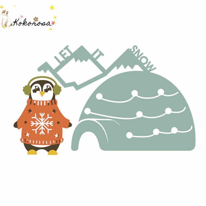Kokorosa Cervi di Natale Maglione Metallo Fustelle Nuovo 2019 per Il Fai da Te Carta di Fare Scrapbooking Goffratura Tagli Stencil Mestiere Muore