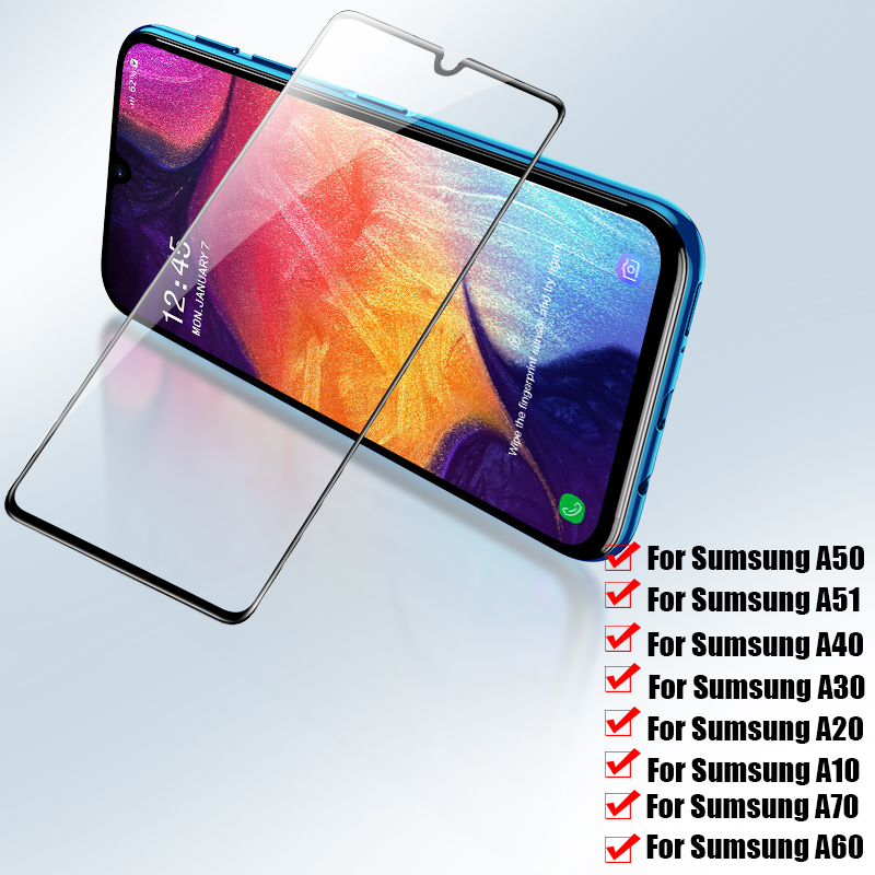 3Pcs Screen Protector On For Samsung Salaxy A50 A30 A70 A10 A40 A20 A60 Tempered Glass For Samsung M10 M20 M30 A70 A80 A90 Glass