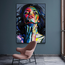 Canvas Painting Modern Graffiti Art Sexy Girl Oil Wall Colorful Pictures For Living Room Cuadros Home Decor