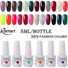 Kismart Any 1PC Nail Gel Polish 8ml UV 290 Colors Lacquer Soak off Painting LED Hybrid Art Resin Primer