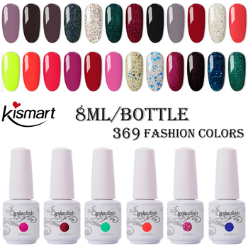 Kismart Any 1PC Nail Gel Polish 8ml UV Gel 290 Colors Nail Polish Lacquer Soak off Painting Gel LED Hybrid Nail Art Resin Primer 30pcs pure colors uv gel soak off led gel lacquer uv nail set gel nail polish set
