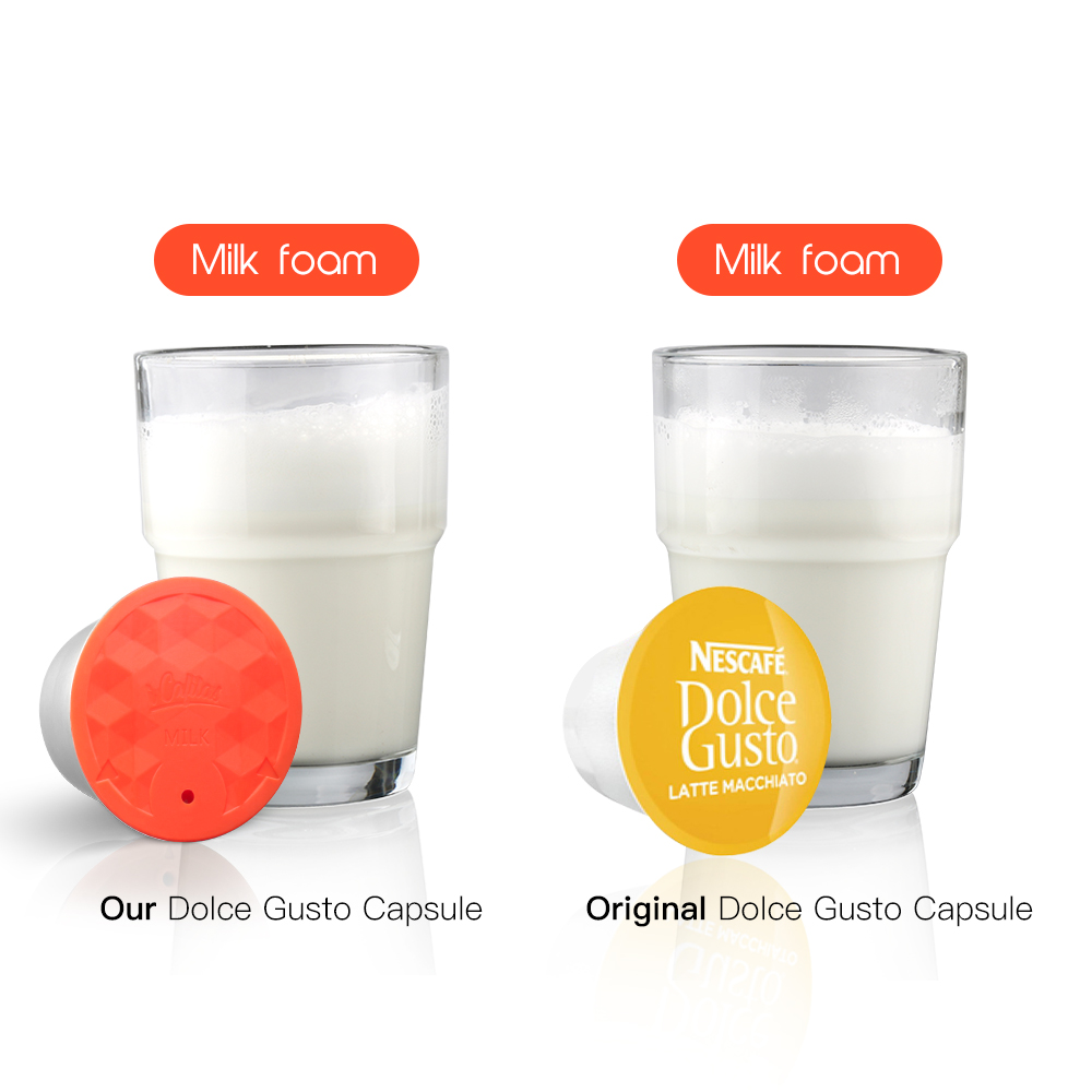 ICafilas Stainless Steel Nescafe Dolce Gusto Milk Foam Filters Reusable Refillable Milk Capsule Pod Cup For Nescafe Dolci Gusto