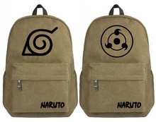 Anime Naruto étudiant cartable Hokage toile sac à dos Cosplay Sharingan cartable adolescents voyage ordinateur portable sac à dos pour garçons cadeaux(China)
