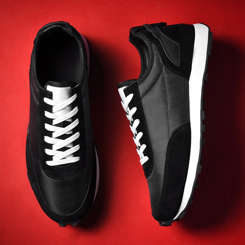 Men Casual Shoes Light Leather Sepatu Sneakers  New Product 2020  Comfort Spring Outdoor Breathable Casual Flats Black Shoes Men