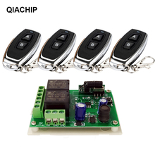 Qiachip dc 5 30 v 2CHスイッチとリモート制御リレーモジュールユニバーサル 24 v 2 遅延 433 mhzリモートコントロールスイッチリレーレシーバー