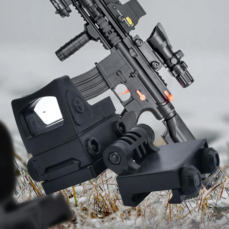 Toy Gun Accessories Side Sight Red Dot Holographic Mirror Plastic Adjustable Rail Two Piece Set For Child Gifts Shooting Targets
