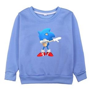 Image 3 - Children Sonic The Hedgehog Clothes Sweatshirts Boys Hoodies Girls Long Sleeve Hoodie 2019 Kids O Neck Cartoon Winter Clothing