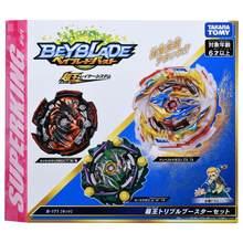사전 판매 새로운 다카라 토미 Beyblade 슈퍼 킹 B171 three-in-one 변환 세트 금속 융합 전투 자이로 어린이 장난감 소년