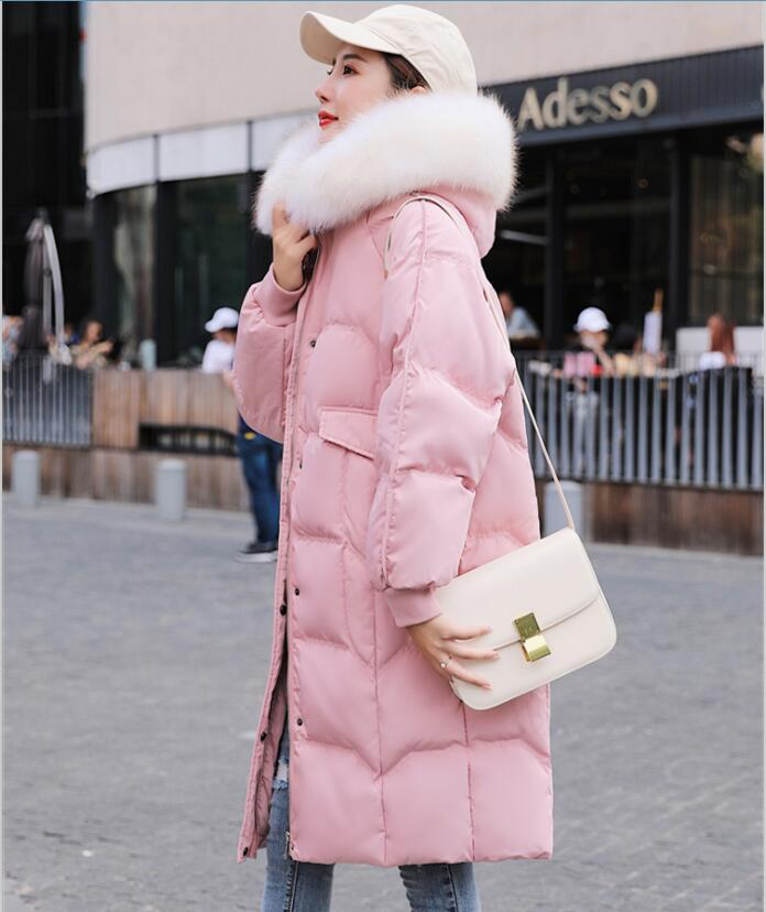 New large size women's winter   down   jacket fur   coat   female jacket 2019 winter   down   jacket women   down     coat   long thick lady   coats