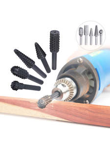 File Bits Rasp Hand-Tool Craft Woodworking Grinding-Power Rotary Steel 5pcs Burrs 1/4-