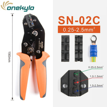 IWISS SN-02C mini Ratcheting Wire Crimping Plier Tools for Insulted Terminals and Butt Connectors Crimper 0.25-2.5mm²
