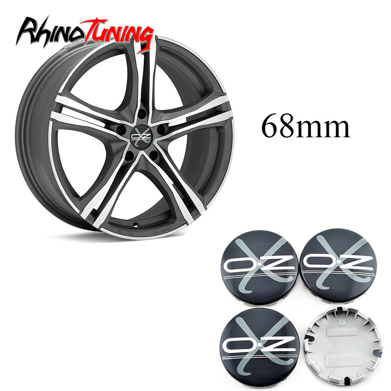 4pcs 68mm 65mm OZ Racing Car Wheel Center Caps Emblem For E64 E90 E65 E84 F48 Wheels Auto Rim Hub Cap Cover image