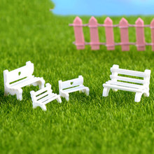 Mini Bench Park Rest Pew Chair Chair Stool France Model Small Statue Figurine Crafts Ornament Miniatures Home Decor(China)