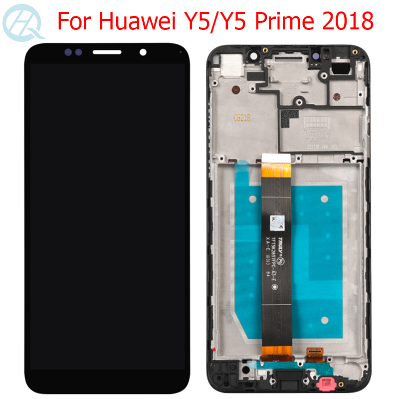 New Y5 Pro 2018 LCD For <font><b>Huawei</b></font> Y5 2018 Display With Frame Touch Screen 5.45