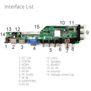 Image 4 - 3663 NEW Digital DVB C DVB T/T2 Universal LCD LED TV Controller Driver Board+7 Key Button + Iron Baffle Stand 3463A Russian