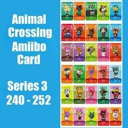 Serie 3 240-252 Animal Crossing Kaarten Amiibo Kaart Werken Voor Schakelaar Ns 3DS Games Animal Crossing Amiibo Kaarten nieuwe Blad