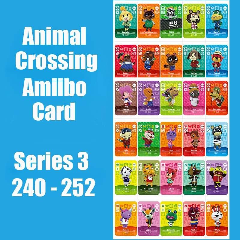 Series 3 240-252 Animal Crossing Cards Amiibo Card Work For Switch NS 3DS Games Animal Crossing Amiibo Cards New Leaf