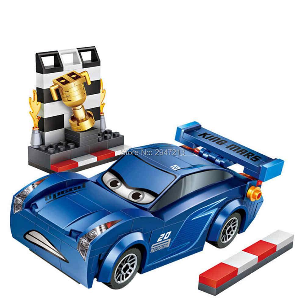 حار Lepining تكنيك المركبات أنيمي الكرتون سيارة رياضية قصة جاكسون راميريز مقطورة شاحنة صغيرة مايكرو الماس كتل نموذج اللعب