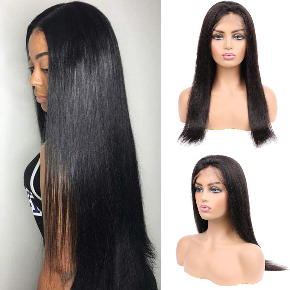 Lace Front Wig  Straight Lace Part Wig 13*4   Straight  Wig Pre Plucked With Baby Hair For Black women 1