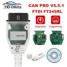 Interfaz de diagnóstico para coche AUDI interfaz de diagnóstico con Chip VAG CAN PRO V5.5.1 FTDI FT245RL, VCP OBD2, compatible con línea Can Bus UDS K, sin llave electrónica USB