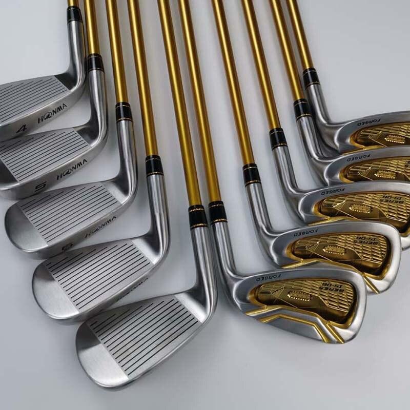 Clubs de Golf s-06 Fers De Golf 4-11/Sw/Aw 10 pièces Dynamique Or Arbres En Acier avec couvre-chef DHL Livraison Gratuite