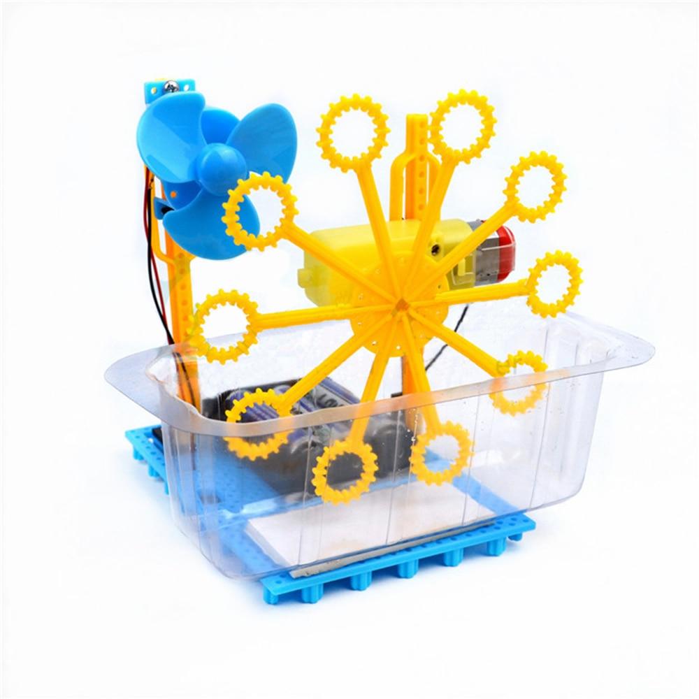 Small Hammer STEAM DIY Bubble Blister Robot Machine Educational Kit Toys