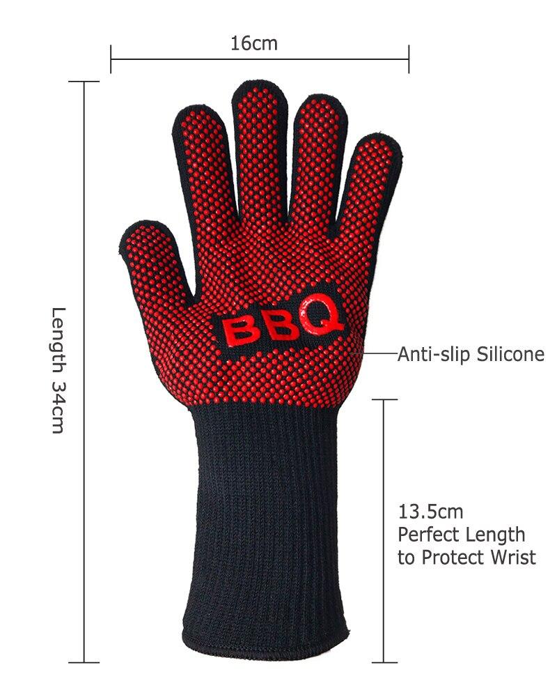 Non-Slip Silicone Gloves Double Layer Design Heat Resistant ...