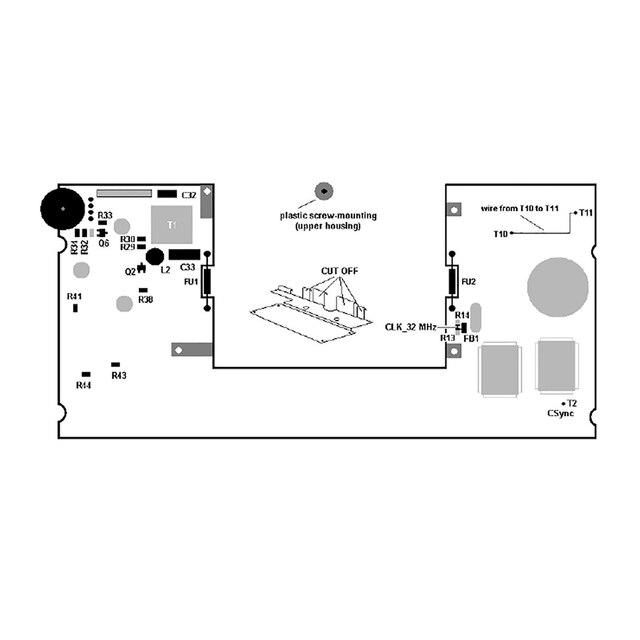 For Sega Game Gear Highlight LCD Screen Modification Kit for Sega GG Support VGA Out