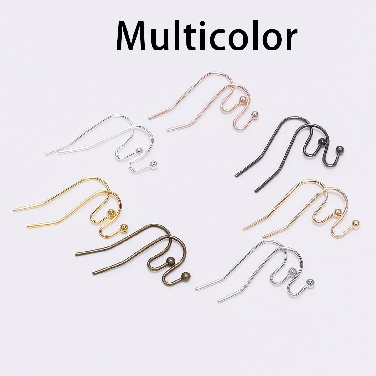 100 шт./лот, 21*16 мм, серебряные, золотые, бронзовые Крючки для сережек, застежки для самостоятельного изготовления ювелирных изделий - Цвет: Multicolor