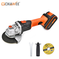 GOXAWEE 20V Cordless Angle Grinder 4000mAh/3000mAh Lithium Ion Electric Angle Cutting Grinding Tool Sanding Machine Power Tool