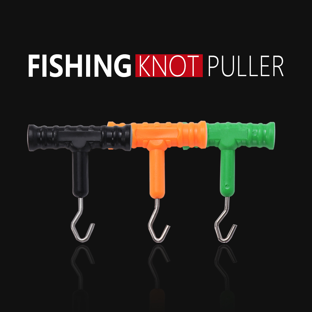 3PCS ABS Grip+Stainless Steel Smooth Knot Hook Carp Fish Knot Puller Rig Making Rig Tool Terminal Fishing Tackle Accessories(China)