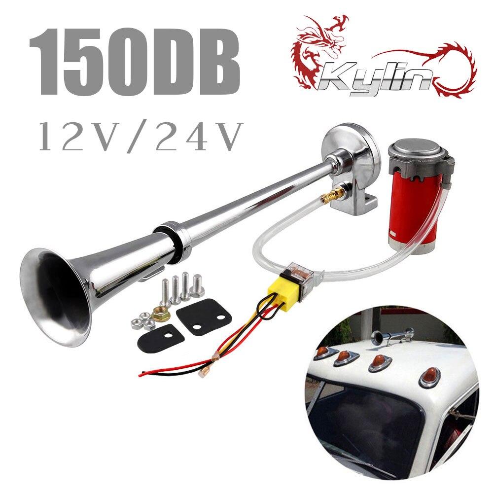Trompette /à air noir 130 dB 12 V 24 V pour camion